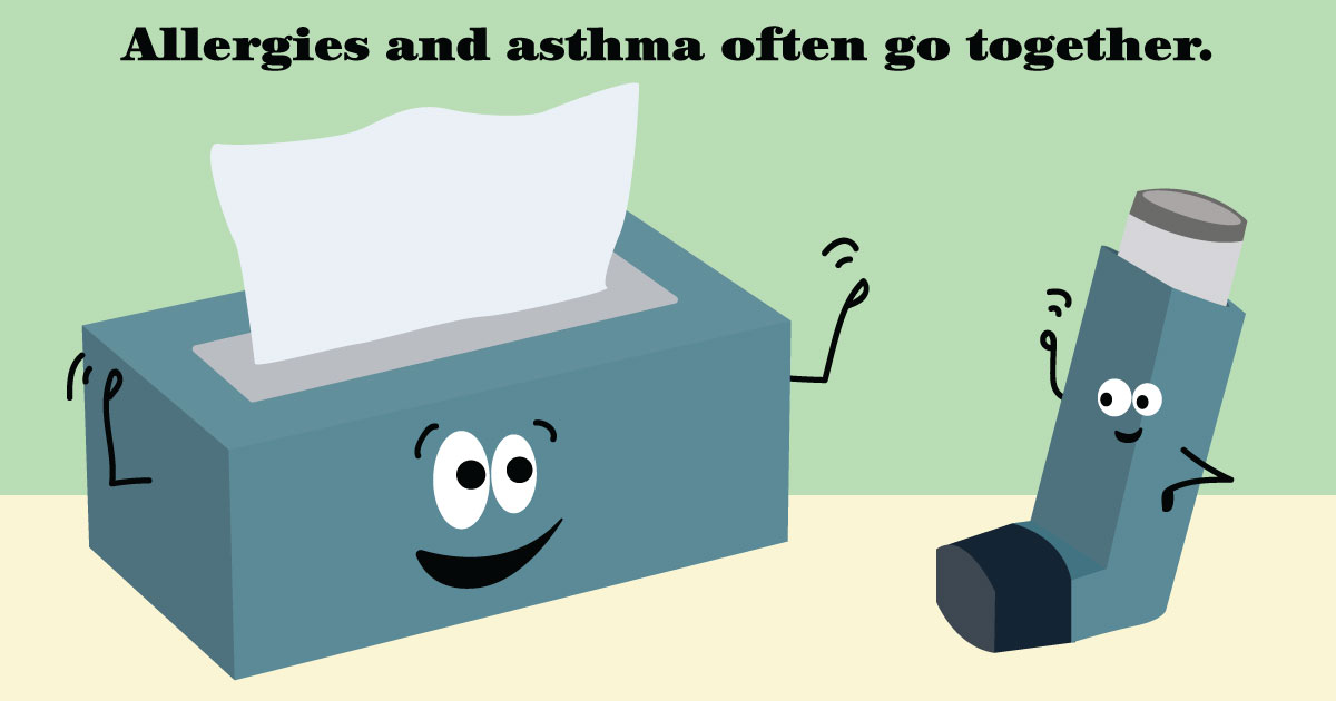 Learn the connection between allergies and asthma.