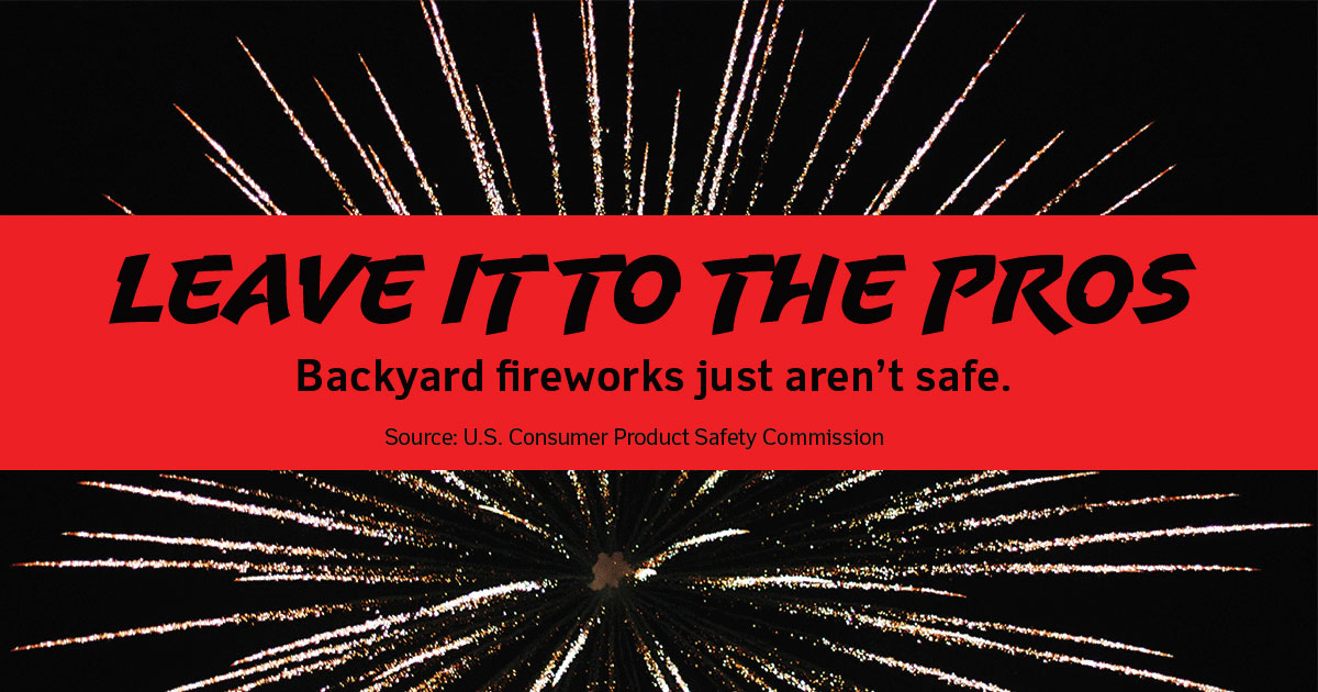Leave it to the pros. Backyard fireworks just aren't safe.